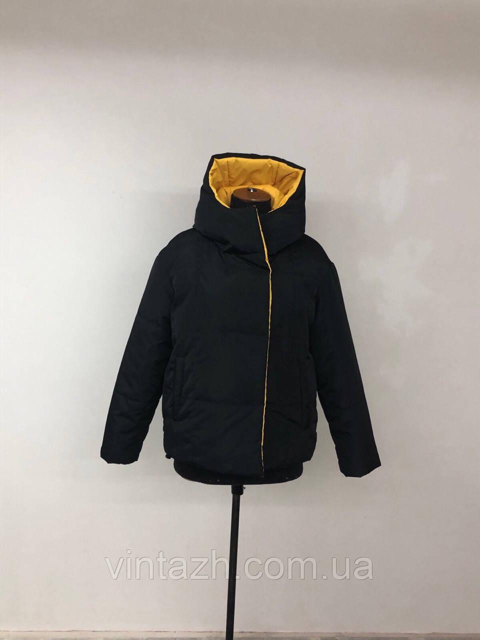Женская яркая куртка деми двухсторонняя размеры 44-52