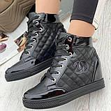 Кросівки жіночі снікерси чорного кольору (1529501)., фото 2