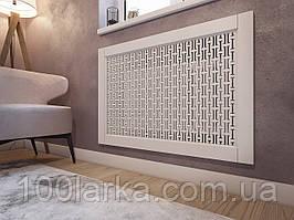 Решетки на батареи отопления, декоративный экран (фасад) на нишу батарей R49-F