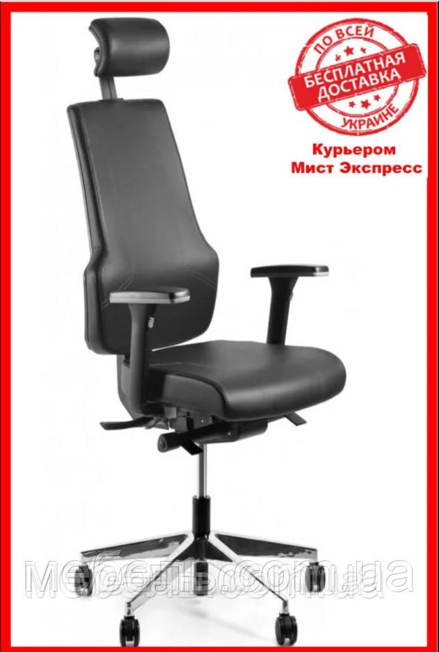 Кресло для врача Barsky ST-01 StandUp Leather, кресло с натуральной кожи, черный