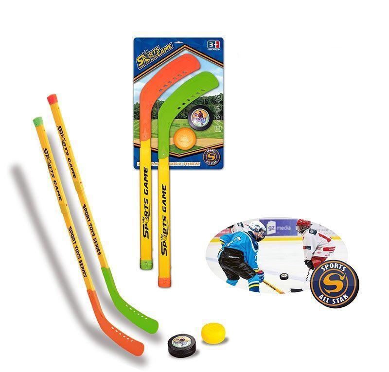 "Набор для хоккея ""Sports Game"" 2 клюшки, шайба на листе YT 3213 H"