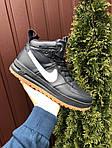 Весенние мужские кроссовки Nike Lunar Force 1 (темно-синие с белым) высокие спортивные кроссы 10146, фото 4