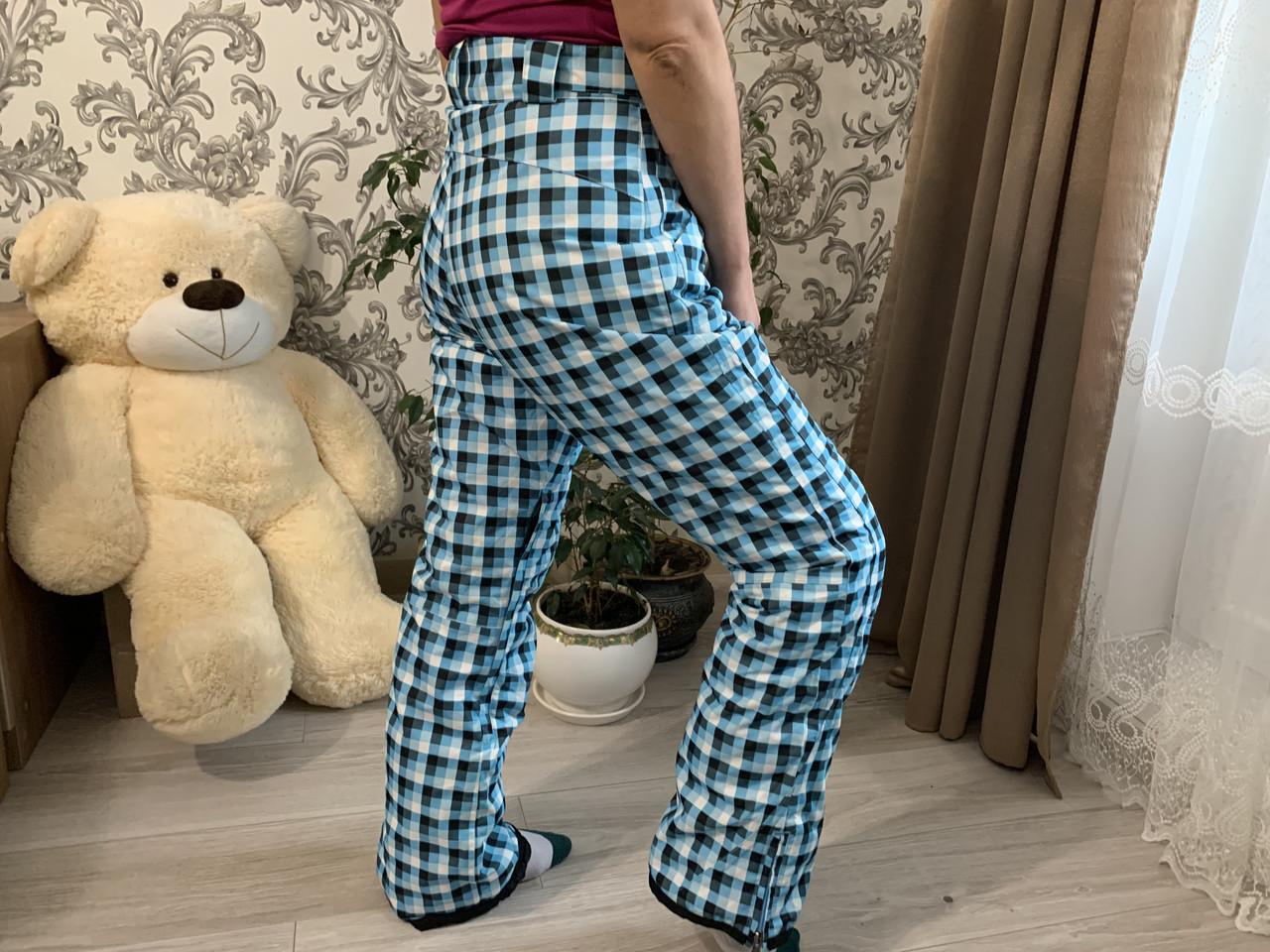 Сноуборд клетчатые яркие штаны горнолыжные тёплые штаны Thinsulate