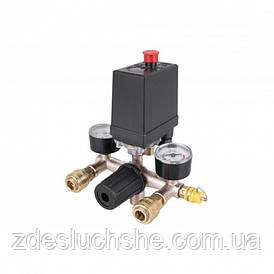 Автоматика для компресора 380В 20А в зборі, пресостат, реле SKL11-236608