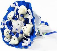 Букет из игрушек Мишки 5 синий 5290IT, фото 1