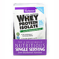 Изолят сывороточного протеина, Вкус Ванили, Whey Protein Isolate, Bluebonnet Nutrition, 8 пакетиков