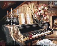 """Набор для рисования по номерам. Загородный дом """"Вечерняя мелодия"""" 40*50см KHO2506, фото 1"""