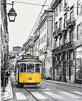 """Городской пейзаж """"Желтый трамвайчик"""" 40*50см * KHO2187"""