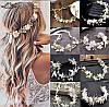 Весільний віночок для волосся, вінок з квітів, тіара з квітів, фото 2