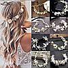 Весільний віночок для волосся, вінок з квітів, тіара з квітів, фото 3