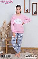 Флісова піжама з принтом хмар для дівчаток 7-16 років