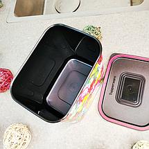 Контейнер для пищи Tupperware Цветочный узор 2,1 л (РП4344), фото 3