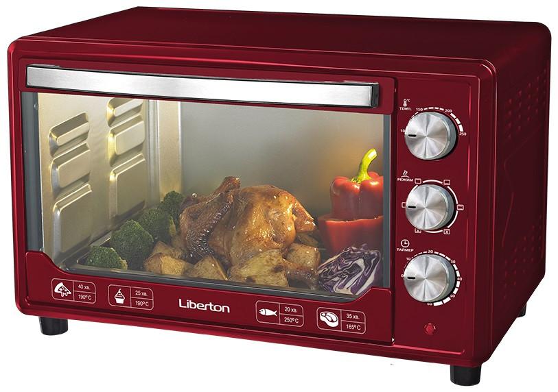 Електродуховка LIBERTON LEO-481 Dark Red