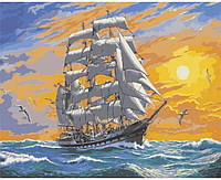 "Картина по номерам. Морской пейзаж ""Хозяин морей"" 40*50см KHO2722"