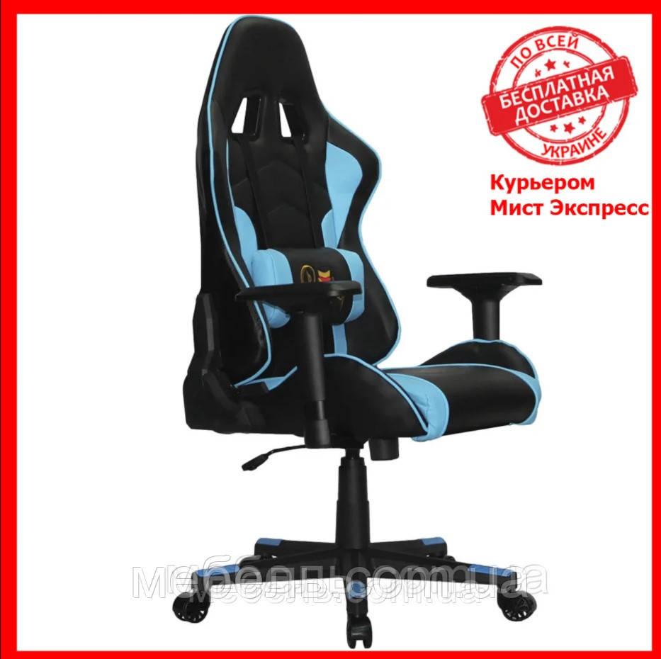 Компьюторное кресло Barsky SD-19 Sportdrive Premium Step Blue, геймерское кресло