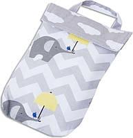 Кармашек для памперсов в сумку ORGANIZE E003 слоники, фото 1