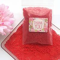 Гидрогелевые шарики Орбиз, размер 12-14 мм, цвет красный, 1 кг, 60 000 штук, растут в воде