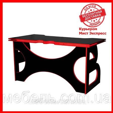 Офисный стол Barsky HG-05 LED Homework Game Red 1400*700, красный, фото 2