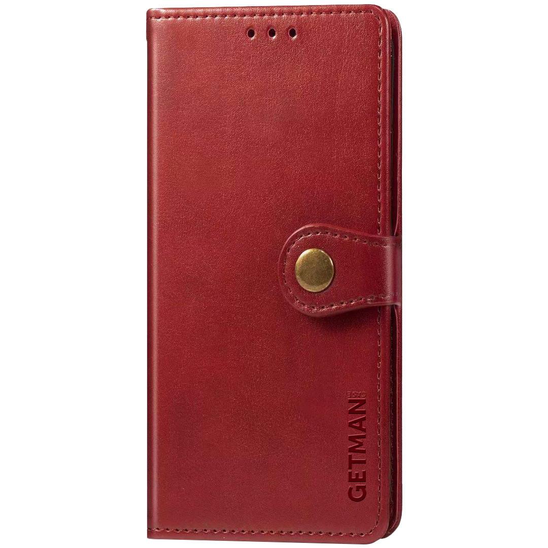 Кожаный чехол книжка GETMAN Gallant (PU) для Xiaomi Poco X3 NFC
