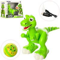 Динозавр 908A р/у, аккум,32см,ездит,танцует,звук,свет,USBзаряд, в кор-ке,40-29,5-17см, фото 1