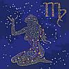 """Картина по номерам. Звездный знак """"Дева"""" с краской металлик 50*50см KH9512"""