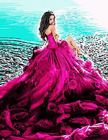"""Картина по номерам. Brushme """" Девушка в воздушном платье """" GX9197"""