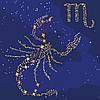 """Картина по номерам - """"Звездный знак Cкорпион"""" с краской металлик"""" 50*50см KH9501"""