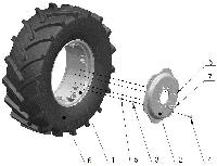 Группа 3101. Колеса и ступицы Подгруппа 3101. Колеса передние ведущие (для тракторов с ПВМ 822-2300020)