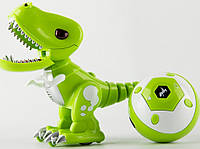 Динозавр FK602A(GREEN) р/у, 19см, свет, звук, ездит, на бат-ке, в кор-ке, 25,5-19-11,5см, фото 1