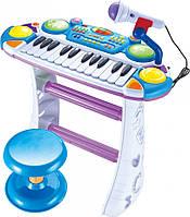 Пианино 7235BLUE Музыкант, на подставке, стул, микрофон, фото 1