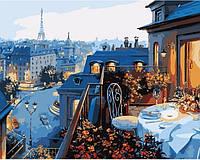 """Картина по номерам. Городской пейзаж """"Вид на Париж"""" 40х50 KHO1107"""