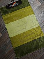 Набір килимків в ванну і туалет 100*60 см Banyolin зелений