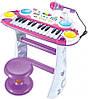 Пианино 7235PINK Музыкант, на подставке, стул, микрофон