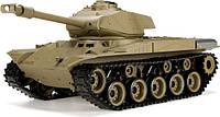 Танк HENG LONG US M41A3 Bulldog р/у аккум 3839-1, 1:16, дым,звук,вращ.башня,пневм.орудие, фото 1