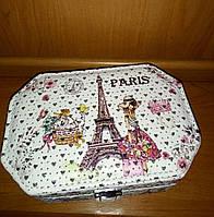 Шкатулка  Париж 18*14*7 см