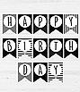 """Бумажная гирлянда на день рождения """"Happy Birthday"""", фото 3"""