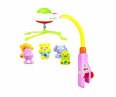 Детская карусель мобиль на кроватку, проекция звездного неба, 5 ярких подвесок, музыка, свет, 917