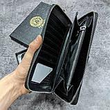 Кожаный кошелек Gucci CK1718 черная, фото 3