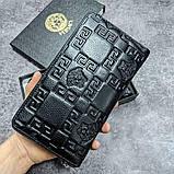 Кожаный кошелек Gucci CK1718 черная, фото 4