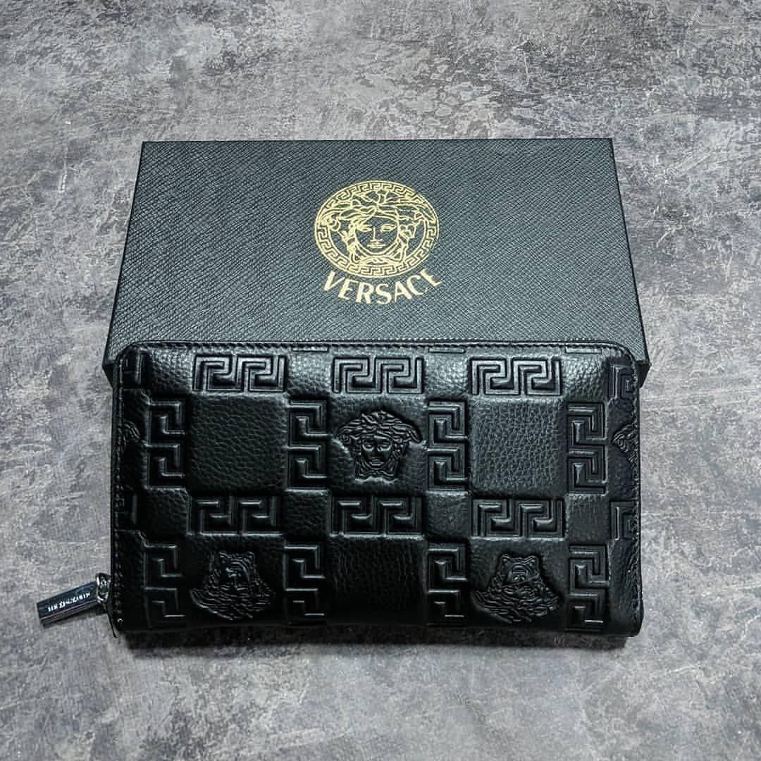 Кожаный кошелек Gucci CK1718 черная