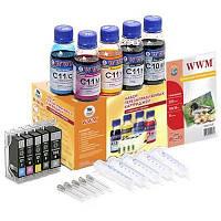 Комплект перезаправляемых картриджей WWM CANON IP4840/3600/4600/MP540/MG5140 (RC.CLI-521)