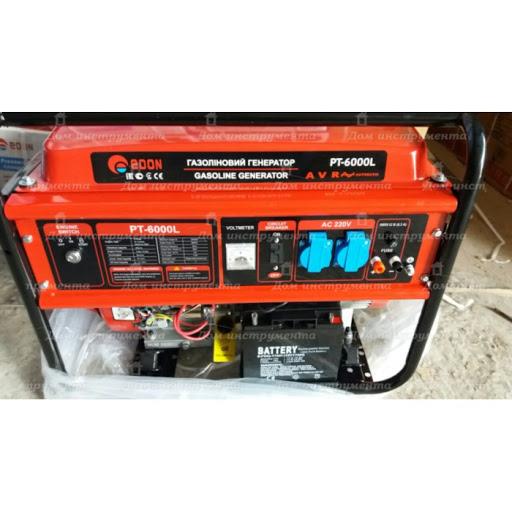 Бензиновый электрогенератор Edon PT-6000L 5 kW медная обмотка