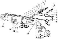 Группа 34. Управление рулевое Подгруппа 3405, 3407. Гидроцилиндр и арматура ГОРУ 900-3400010-02/-03 (вариант с ПВМ 72-2300020-A)