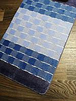 Набір килимків в ванну і туалет 100*60 см Banyolin синій, фото 1