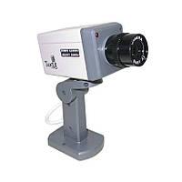 Муляж камеры наблюдения двигающийся с датчиком XL018, Видео камера обманка, видеокамера, наружная, фото 1