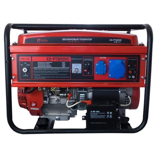 Бензиновый электрогенератор Edon ED-PT8000С 8 kW медная обмотка