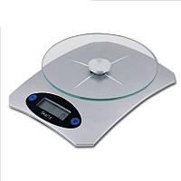 Кухонные электронные весы Domotec MS-KE5 от 1г до 5 кг Air Glass стеклянные, фото 1