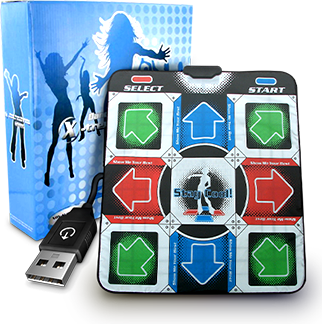 Танцевальный коврик usb для ПК компьютера PC Dance mat X-treme Dance Pad улучшенный с CD