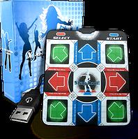 Танцевальный коврик usb для ПК компьютера PC Dance mat X-treme Dance Pad улучшенный с CD, фото 1