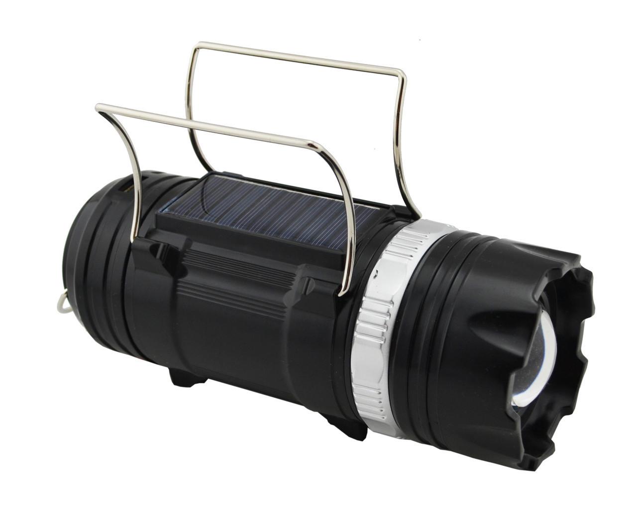 Кемпинговая LED лампа SB-9688 фонарик с солнечной панелью